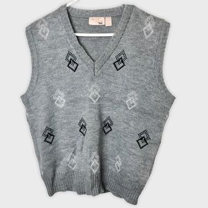 Vintage V Neck Knit Sweater Vest